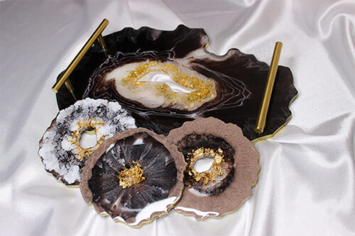 RESIN COSTER TRAY
