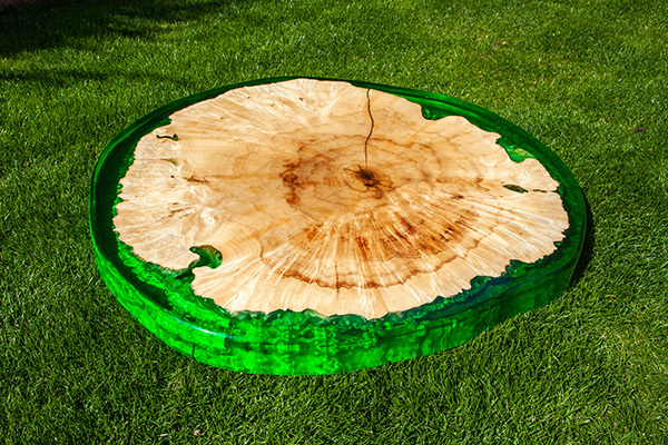 epoxy resin wooden table